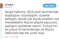 HDP Muş Belediye Başkan Adayı: Sırrı Sakık